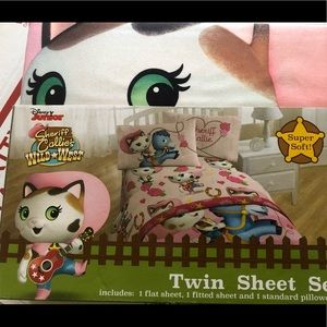 Disney Sheriff Callie Cat Wild West Twin Sheets